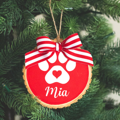 Personalized Dog Ornament with Gift Box | Christmas Gift for Dog Lover
