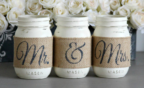 Rustic Bridal Shower Table Decor