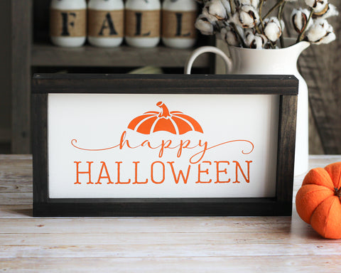 Happy Halloween Wall Sign | Farmhouse Home Decor - Jarful House