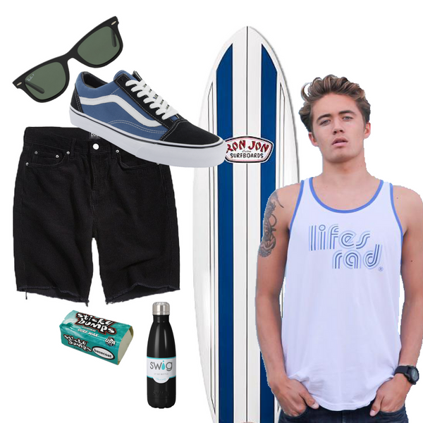 Dude, what could be better than a style that will take you from the surf to Las Olas? You'll love this guy-themed board heading into Memorial Day weekend!