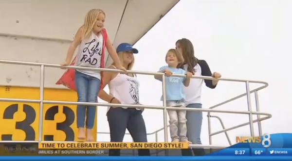 And of course, this week we were featured on the CW/CBS 8 San Diego - pinch us! - as the perfect summer beach option for San Diegans!