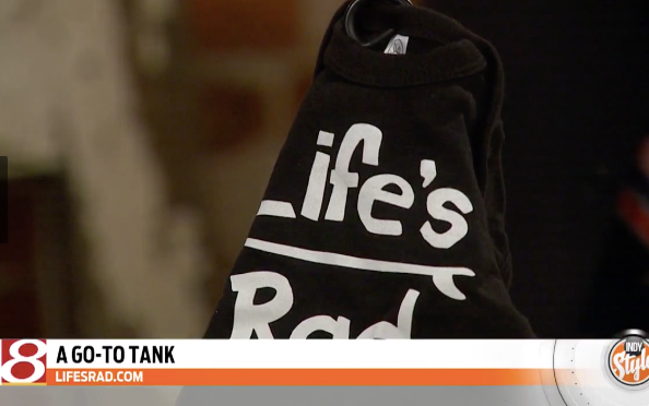 Indy Style on WISH-TV hosts Tracy Forner and Amber Hankins featured Life's Rad hats and onesies for Mother's Day!