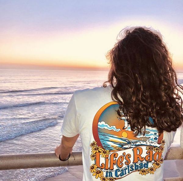 @mkichael_ rocks our new Carlsbad tee!