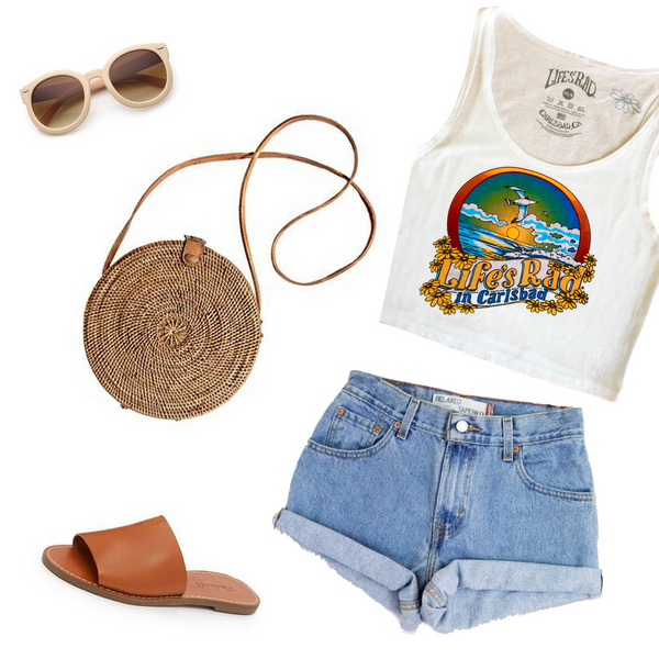 Enjoy beachside bellinis and endless sunshine in this adorable Life's Rad outfit styled with our newest Carlsbad crop!