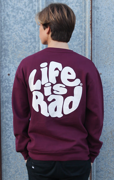 Life is Rad Retro Crew Sweatshirt