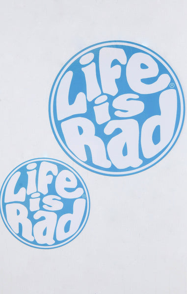 Life Is Rad 70's Retro Sticker