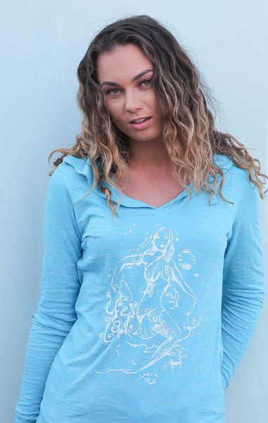 The Mermaid Burnout Hoodie