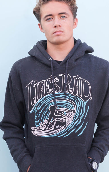 Life's Rad Backside Surfer Hoodie