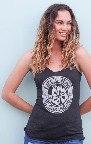Life's Rad in Carlsbad Hibiscus Flower Tank