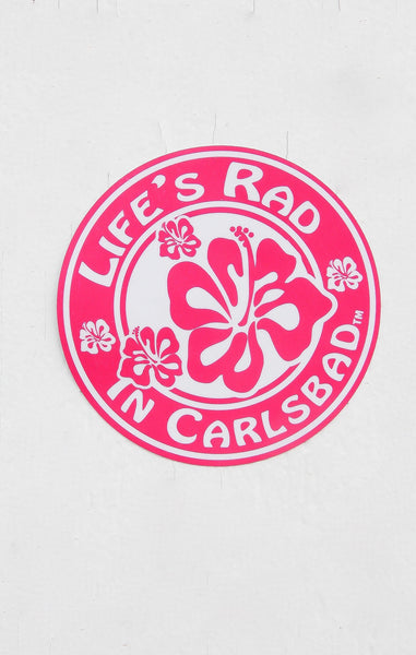 Life's Rad In Carlsbad  Hibiscus Sticker