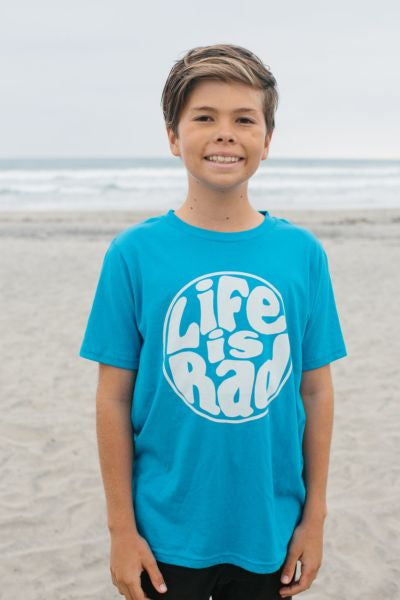 Life is Rad Retro Logo Kids Tee