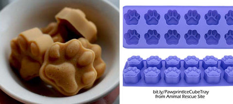 pawprint ice cube tray