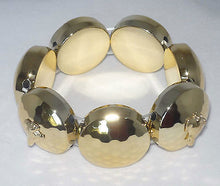 Load image into Gallery viewer, Goldtone Stretch Bracelet w GP Greyhound Dog Charms Whippet IG