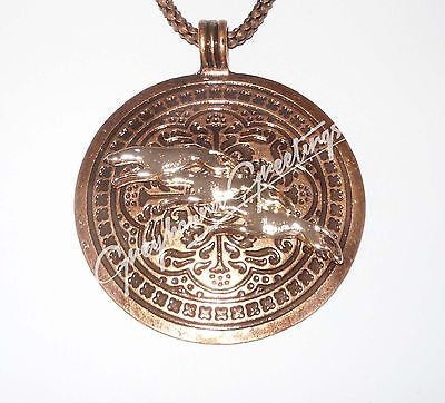 3 Copper Greyhound Dogs Race Across Ornate Copper Pendant, Copper Necklace