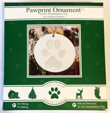 Load image into Gallery viewer, Pawprint Ornament Kit - remember a beloved pet - safe and non-toxic BOGO