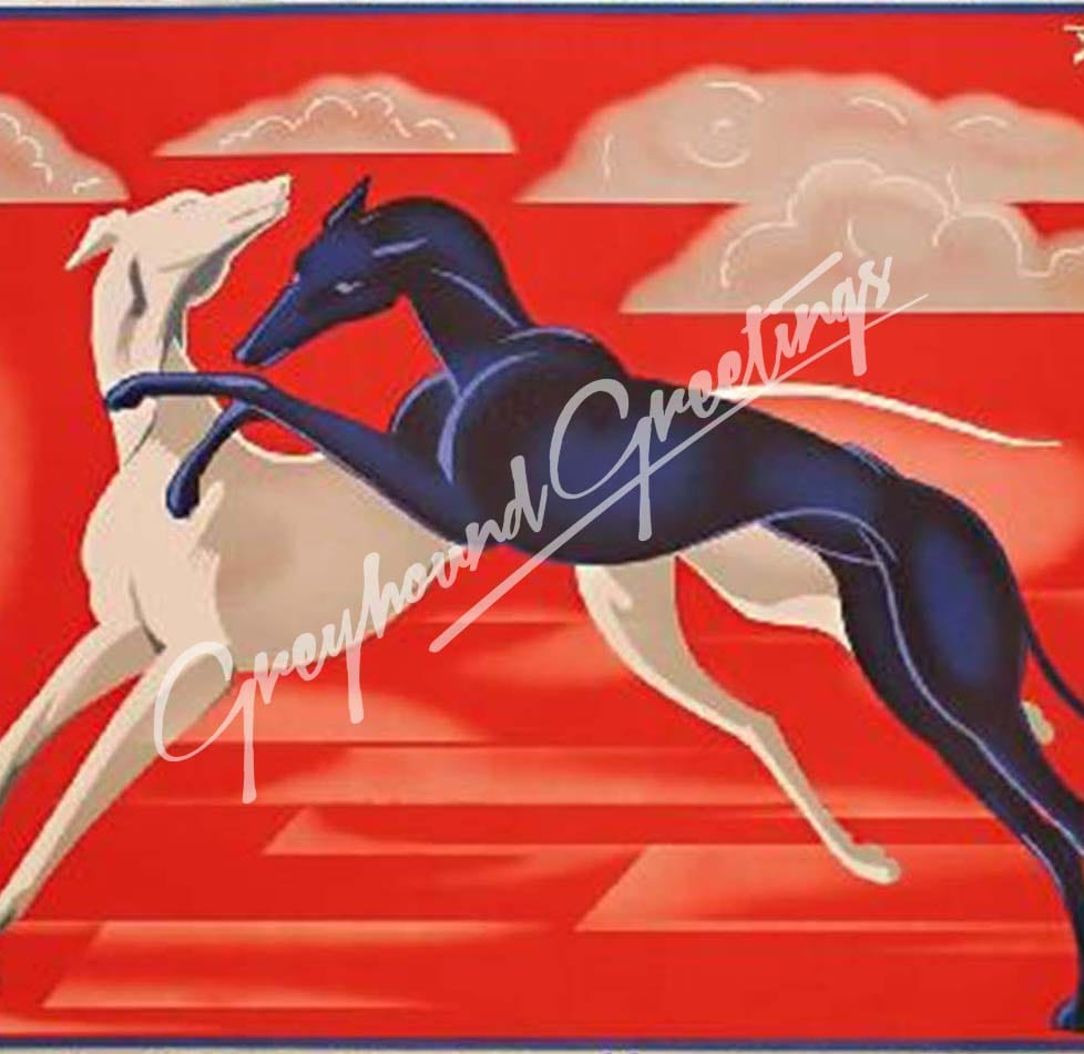 Greyhound Art Tile