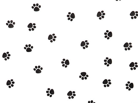 Recycled Black & White Pawprint Tissue, 10 sheets