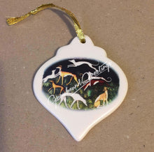 Load image into Gallery viewer, Greyhound Porcelain Ornament