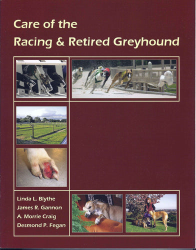 Order Care of the Racing & Retired Greyhound Book