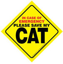 Load image into Gallery viewer, Cat Emergency Sign