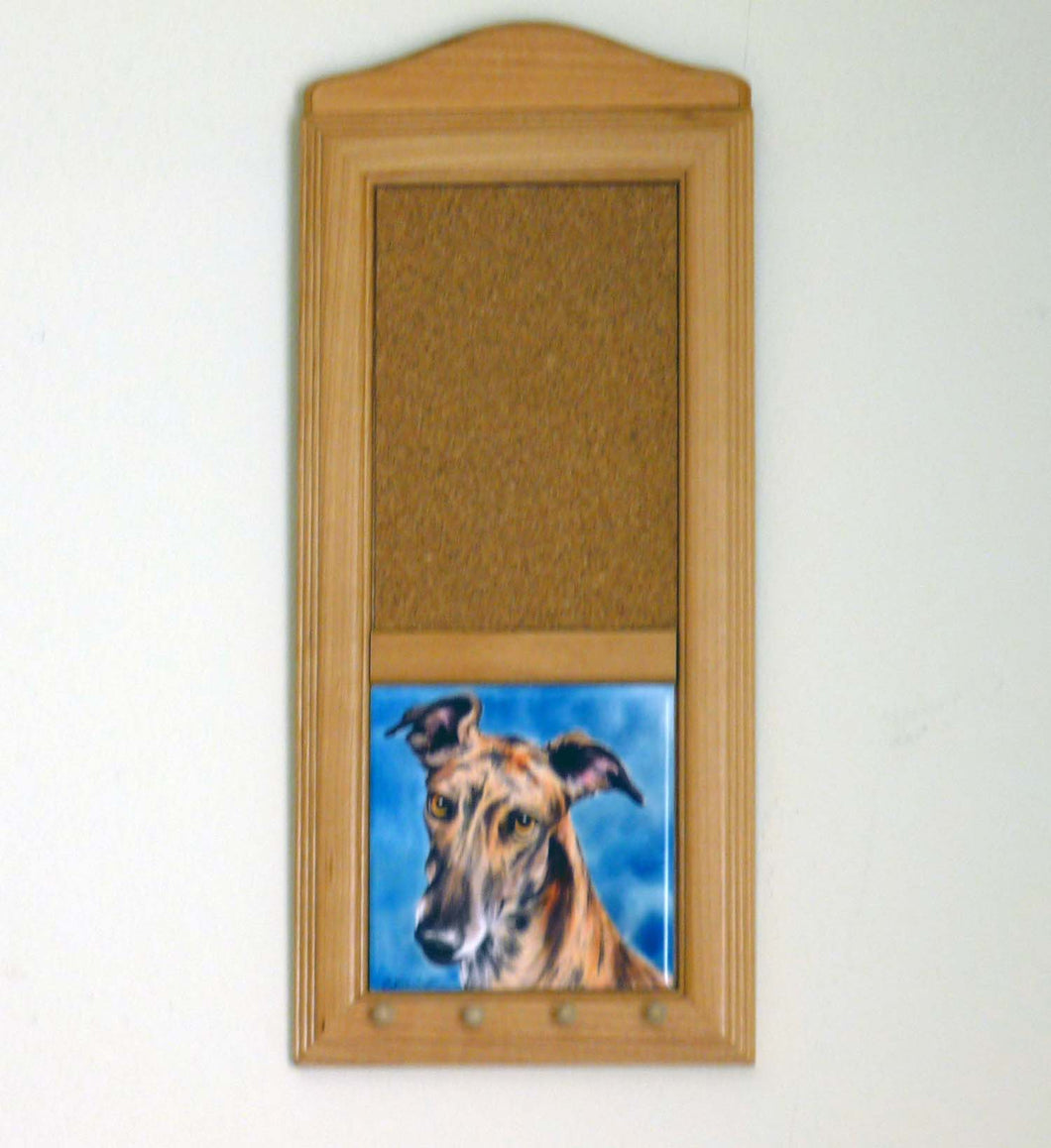 Greyhound Art Tile Memo Board