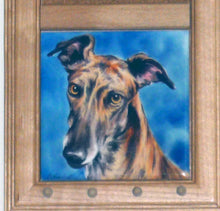 Load image into Gallery viewer, Greyhound Art Tile Memo Board