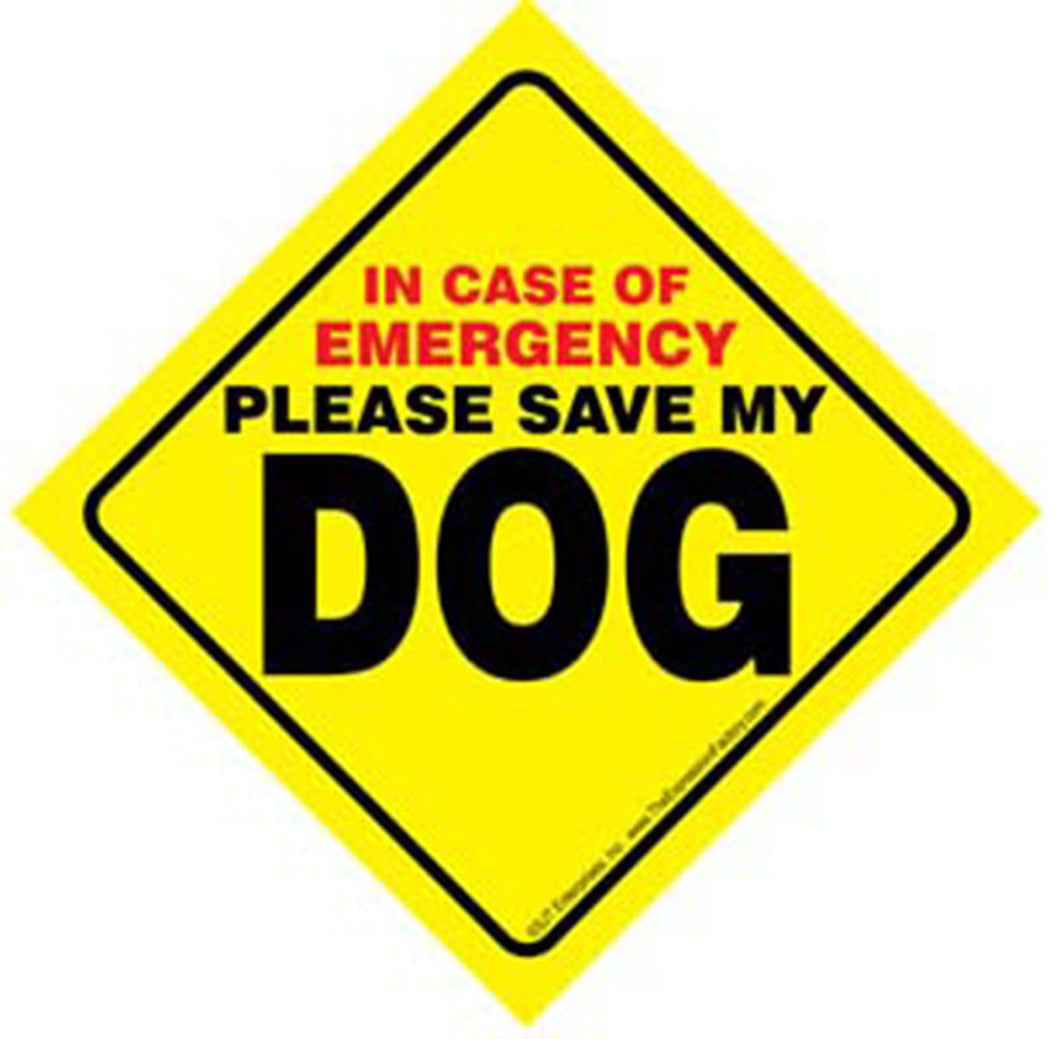 Dog Emergency Sign