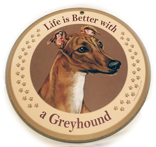 Wood Greyhound Sign