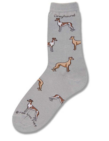 Greyhound Poses Socks Med (fits most) Gray