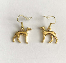 Load image into Gallery viewer, Greyhound Earrings Gold