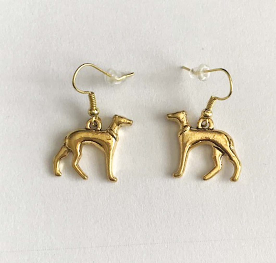 Greyhound Earrings Gold