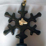 Bronze Bell Greyhound Snowflake Ornament