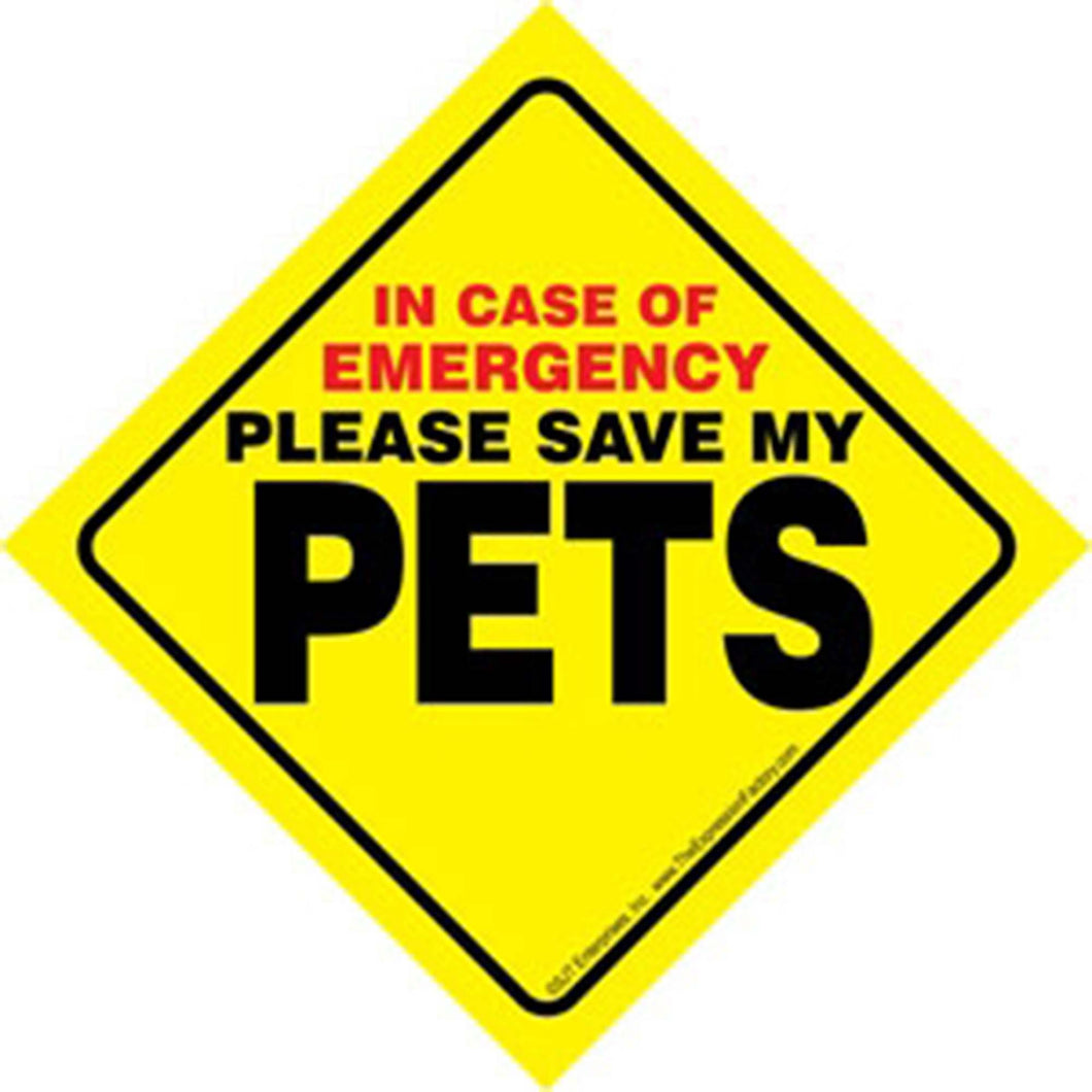 Pets Emergency Sign