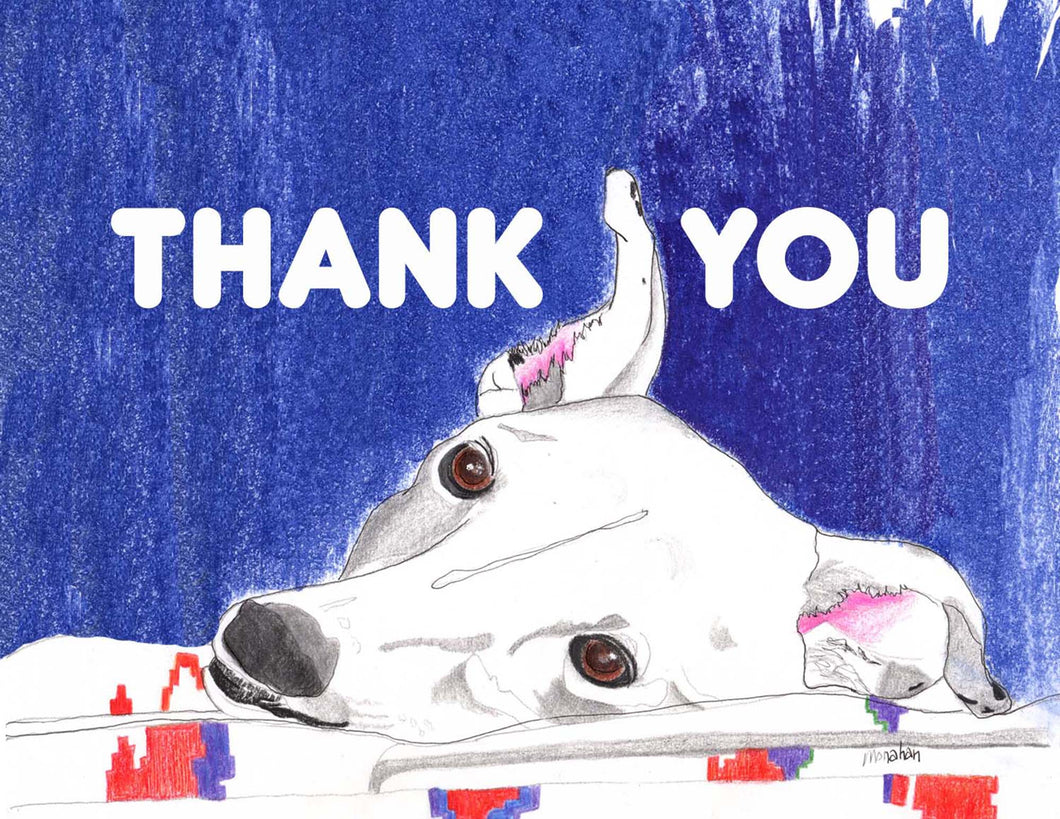 Greyhound Thank You Card