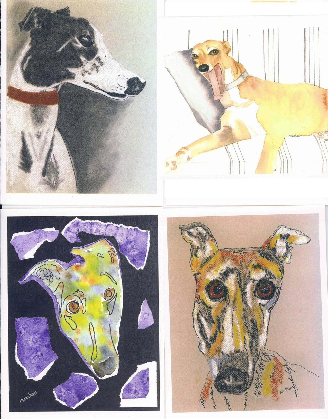Greyhound Art Notecard Set