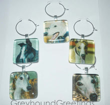 Load image into Gallery viewer, Greyhound Wine Charms