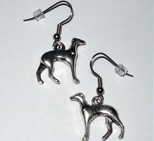 Load image into Gallery viewer, Greyhound Earrings Silver