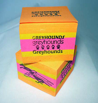 Pair of Greyhound Sticky Note Cubes