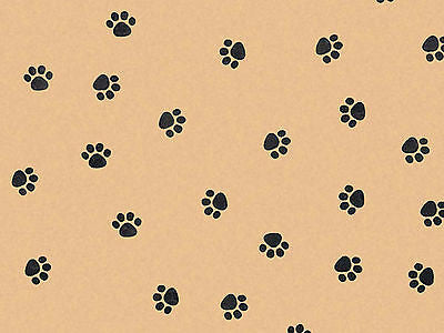 Recycled Kraft Pawprint Tissue, 10 sheets
