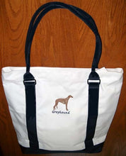 Load image into Gallery viewer, Greyhound Zipper Tote Bag