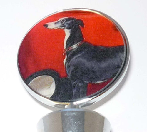Greyhound Bottle Stopper