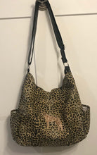 Load image into Gallery viewer, Animal Print Brindle Hobo Bag