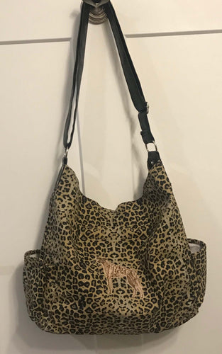 Animal Print Brindle Hobo Bag