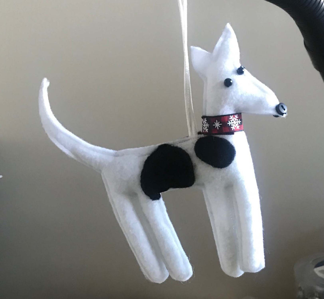 Felt Greyhound Ornament