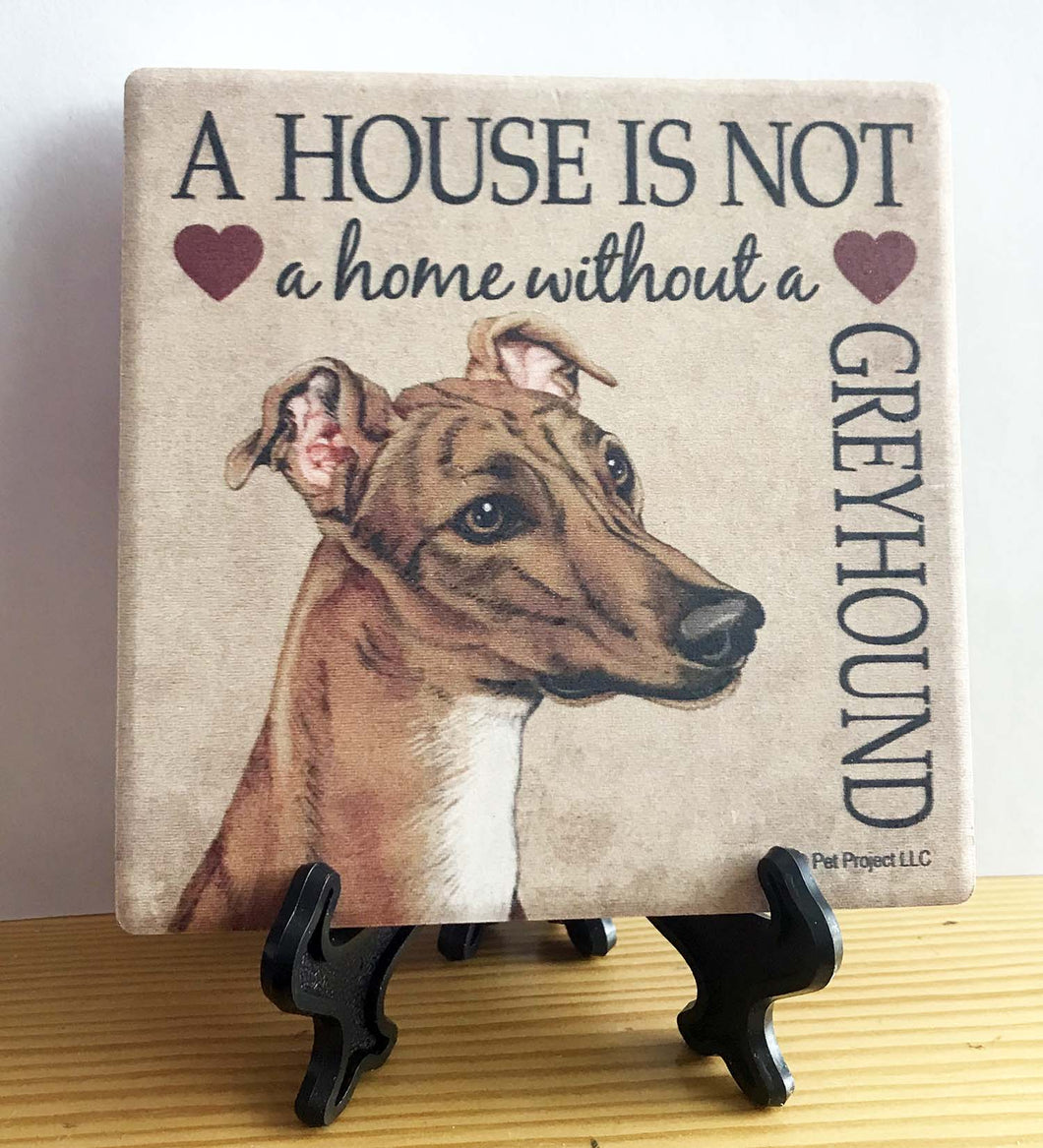 Greyhound Coaster with Easel
