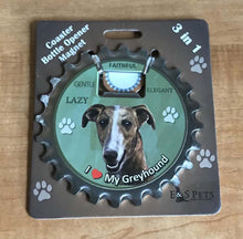 Load image into Gallery viewer, Greyhound Bottle Opener Coaster