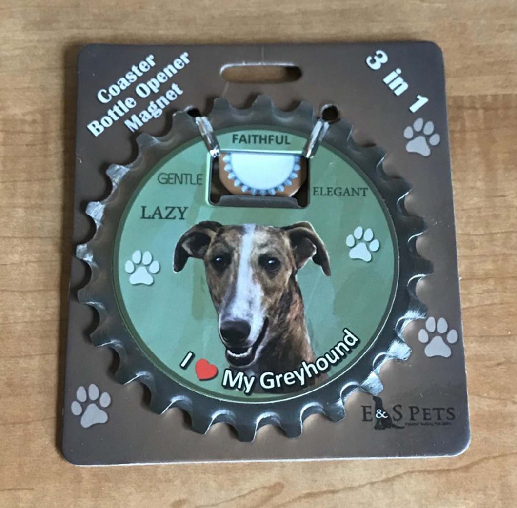 Greyhound Bottle Opener Coaster