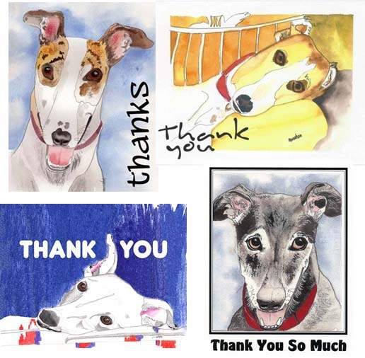 Greyhound Thank You Cards Assortment