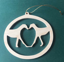 Load image into Gallery viewer, Wood Cutout Greyhound Ornament