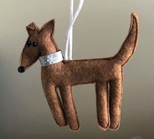 Load image into Gallery viewer, Felt Greyhound Ornament